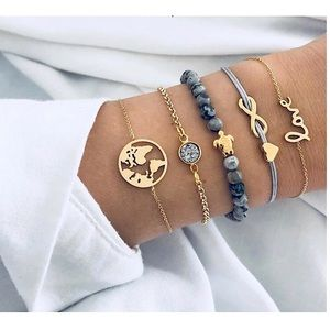 Jewelry - 💁🏻‍♀️💦Fashion💦🔮Plated gold Charm Bracelet🔮🛍